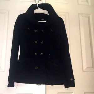 Hurley fitted coat with double row of buttons